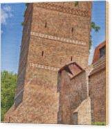 Poland, Torun, Crooked Tower. Wood Print