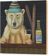 Polar Beer Wood Print