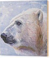 Polar Blue Wood Print