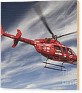 Polar First Helicopter Wood Print