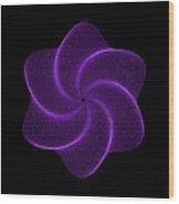 Polar Flower Vib Wood Print