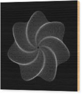 Polar Flower Viik Wood Print