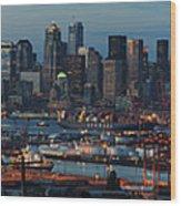 Polar Pioneer Docked In Seattle Wood Print