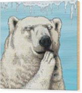 Polar Prayer Wood Print