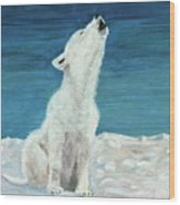 Polar Pup Wood Print