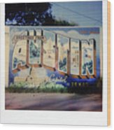 Polaroid Instant Picture Of The Famous  Wood Print