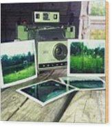 Polaroid Land 320 Wood Print