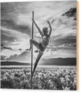 Pole Dance Reach Hdr Wood Print