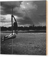Pole Dance Storm 1 Wood Print