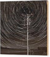 Pole Star Wood Print
