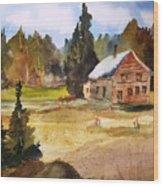 Polebridge Mt Cabin Wood Print