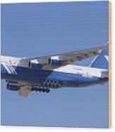 Polet Antonov An-124 Ra-82080 Landing Phoenix-mesa Gateway Airport January 14  Wood Print