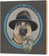 Police Dog Wood Print