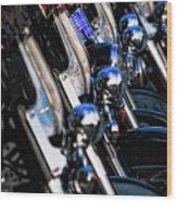 Police Motorcycles Wood Print