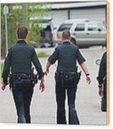 Police Pants Wood Print
