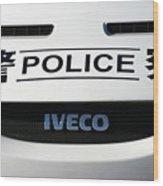 Police Smile Wood Print