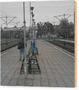 Polish Train Station Wood Print