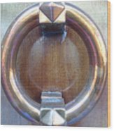 Polished Door Knocker Wood Print