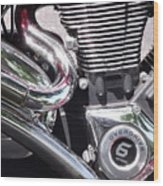 Polished Motorcycle Chrome Wood Print