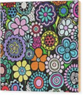 Polka Dot Bouquet Wood Print