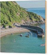 Polkerris Beach And Harbour Wood Print