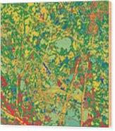 Pollack Green Wood Print