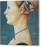 Pollaiuolo: Young Woman Wood Print