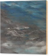 Pollution Clouds Wood Print