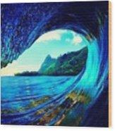 Polu Ka Wai Wood Print