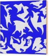 Polygon Sky Wood Print