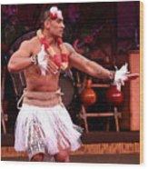 Polynesian Warrior Dancer Wood Print