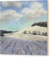 Pomfret Hills Wood Print