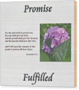 Promise Fulfilled Wood Print