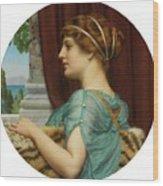 Pompeian Lady Wood Print