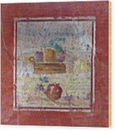 Pompeii Pomegranate Still Life Fresco 1 Wood Print