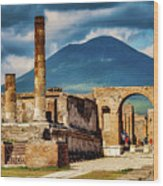 Pompeii Redeux Wood Print