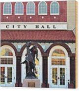 Ponca City City Hall Wood Print