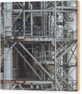 Ponca City Refinery Two Wood Print