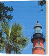 Ponce Del Leon Inlet Florida Wood Print