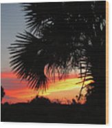 Ponce Inlet Florida Sunset Wood Print