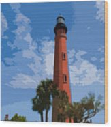 Ponce Inlet Light Wood Print