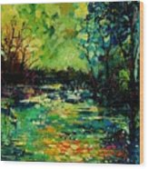 Pond 560120 Wood Print