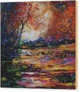 Pond 671254 Wood Print