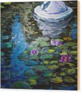 Pond In Monet Garden Wood Print