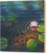Pond Jewels Wood Print