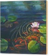 Pond Jewels Wood Print by Pat Burns