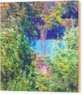 Pond Overlook Wood Print