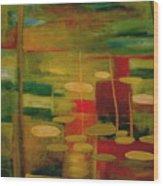 Pond Reflections Wood Print by Jun Jamosmos