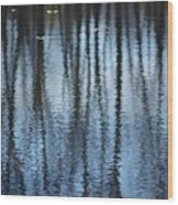 Pond Reflections Wood Print