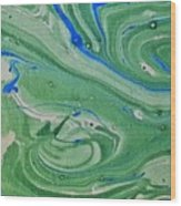 Pond Swirl 1 Wood Print